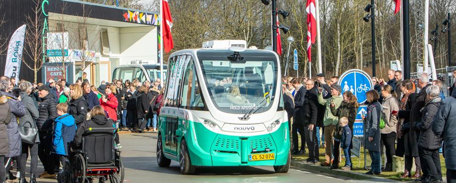 Art-Forum, selfdriving bus Denmark